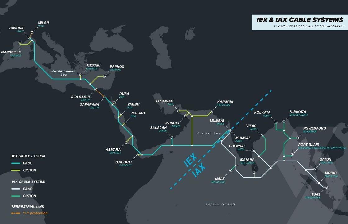 印度电信运营商Jio拟建新海缆连接亚太与欧洲