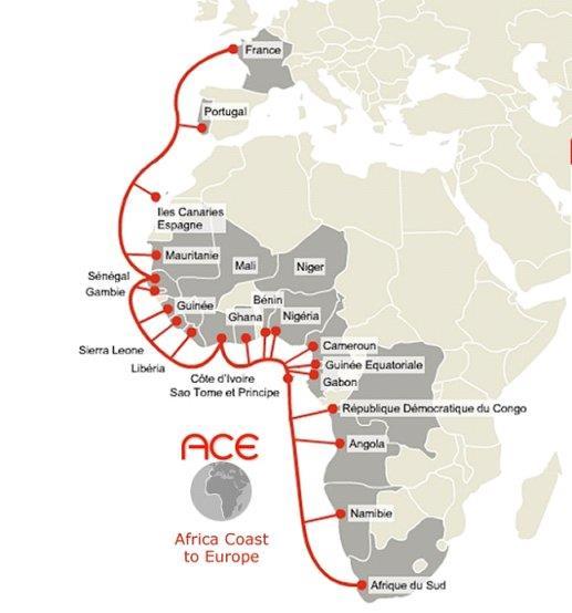 ACE海缆系统完成扩容 总容量提高至20 Tbps