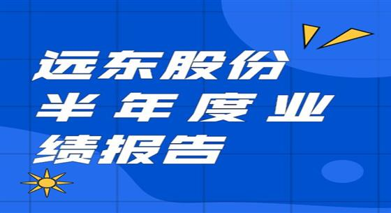 遠東股份:上半年凈利同比增長129.25% 創歷史新高