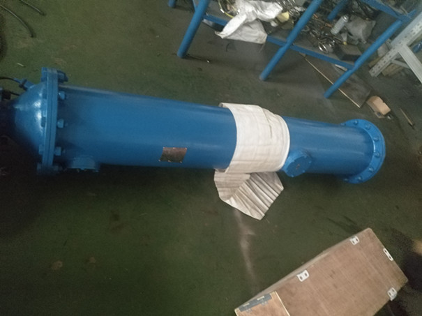 山東青島雨水泵站排放水底吸式潛水泵