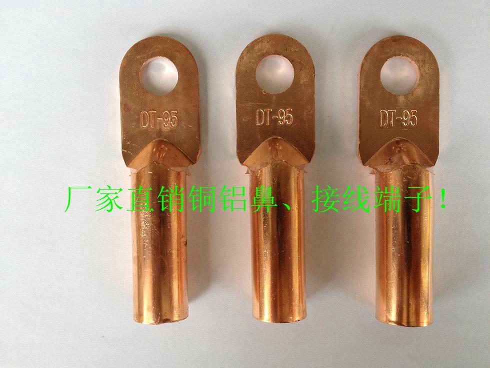 DT-16平方 铜鼻子 线鼻子 铜接线端子 紫铜 堵油