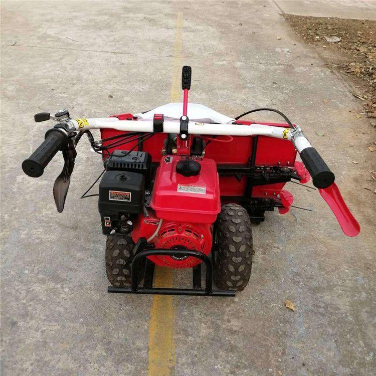 全自动水稻收割机 手扶割晒机 前置式玉米秸秆收割机